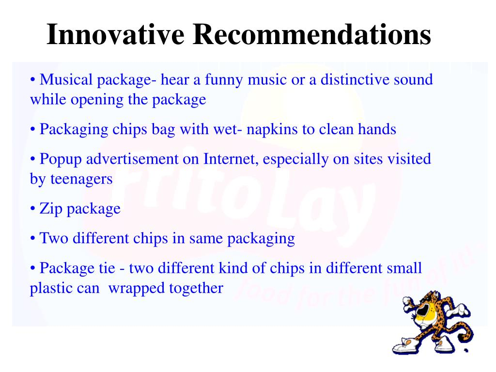 Innovative Recommendations