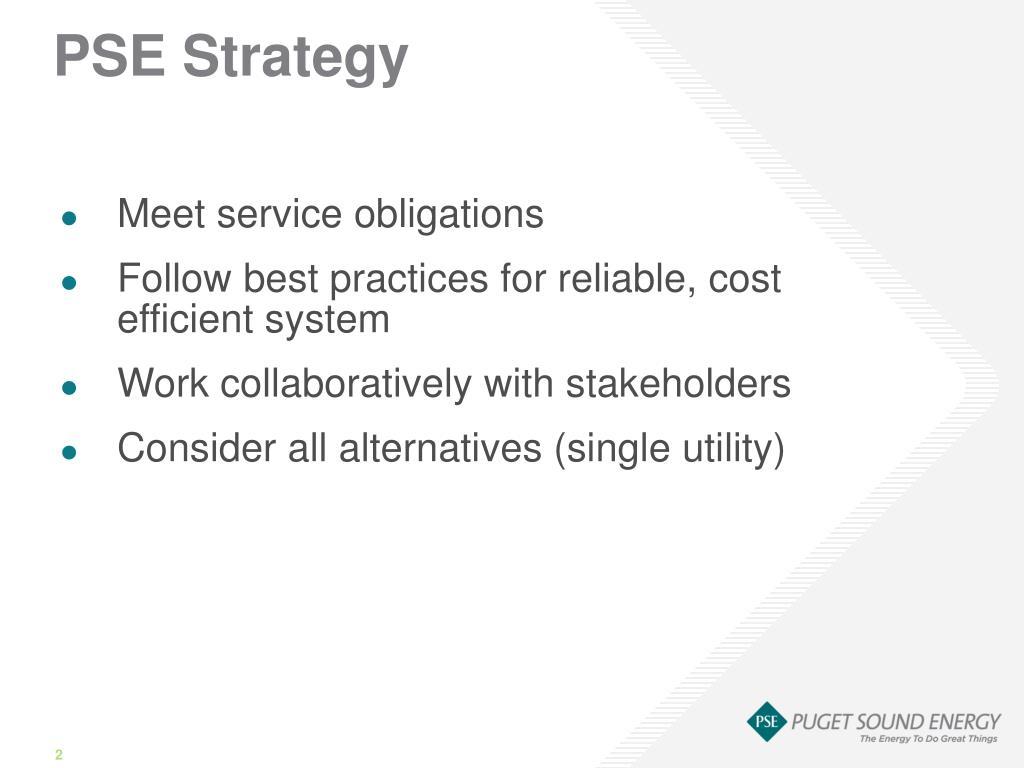 PSE Strategy