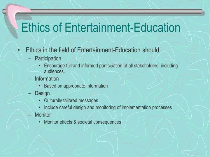Ethics of Entertainment-Education