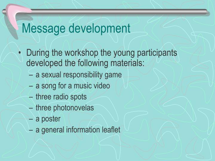 Message development