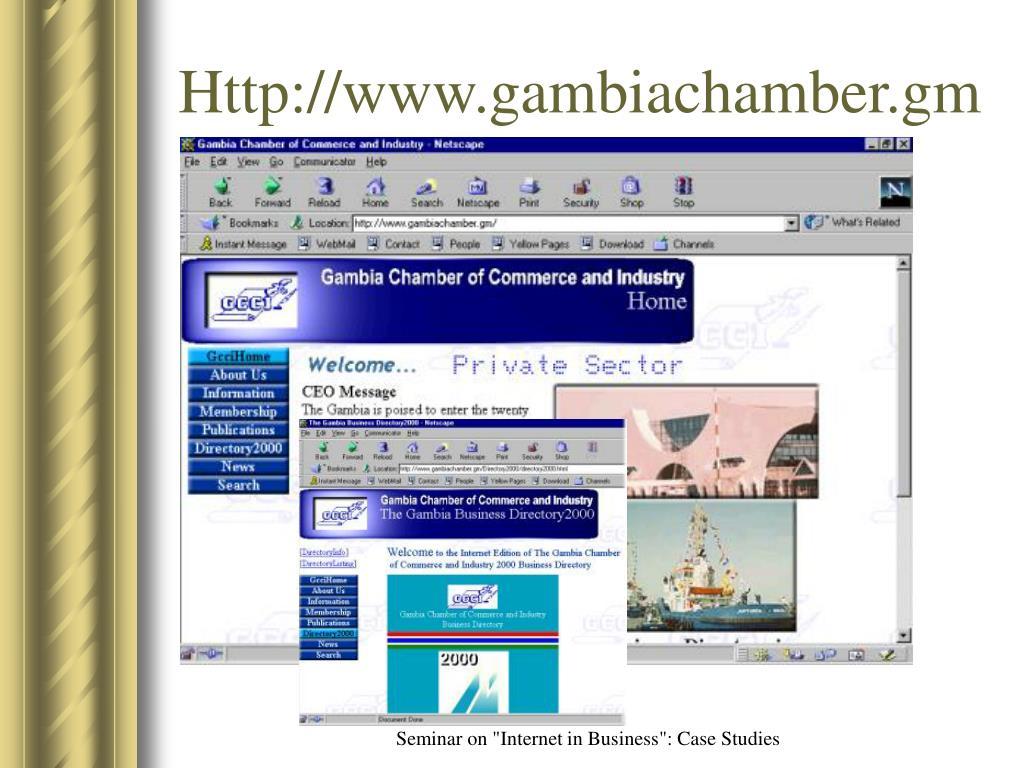 Http://www.gambiachamber.gm