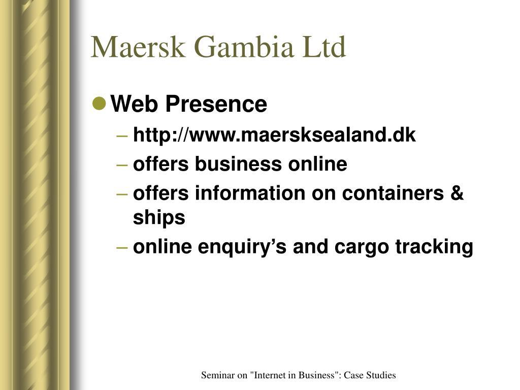 Maersk Gambia Ltd