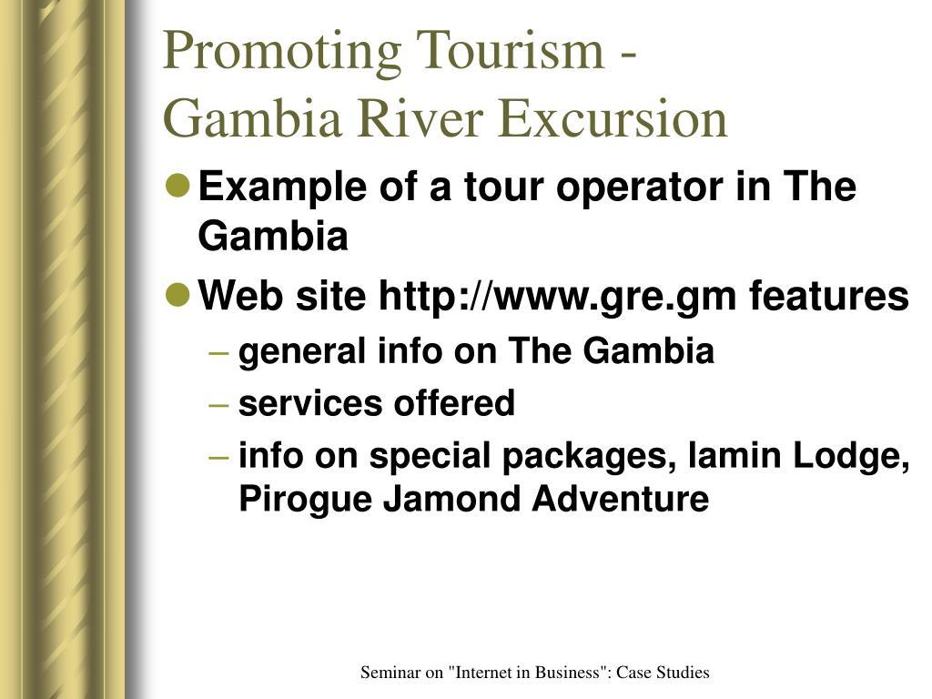 Promoting Tourism -