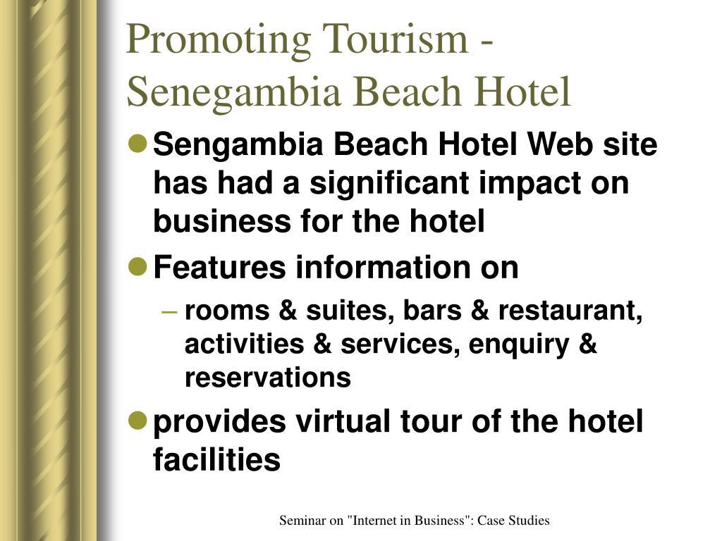 Promoting Tourism - Senegambia Beach Hotel