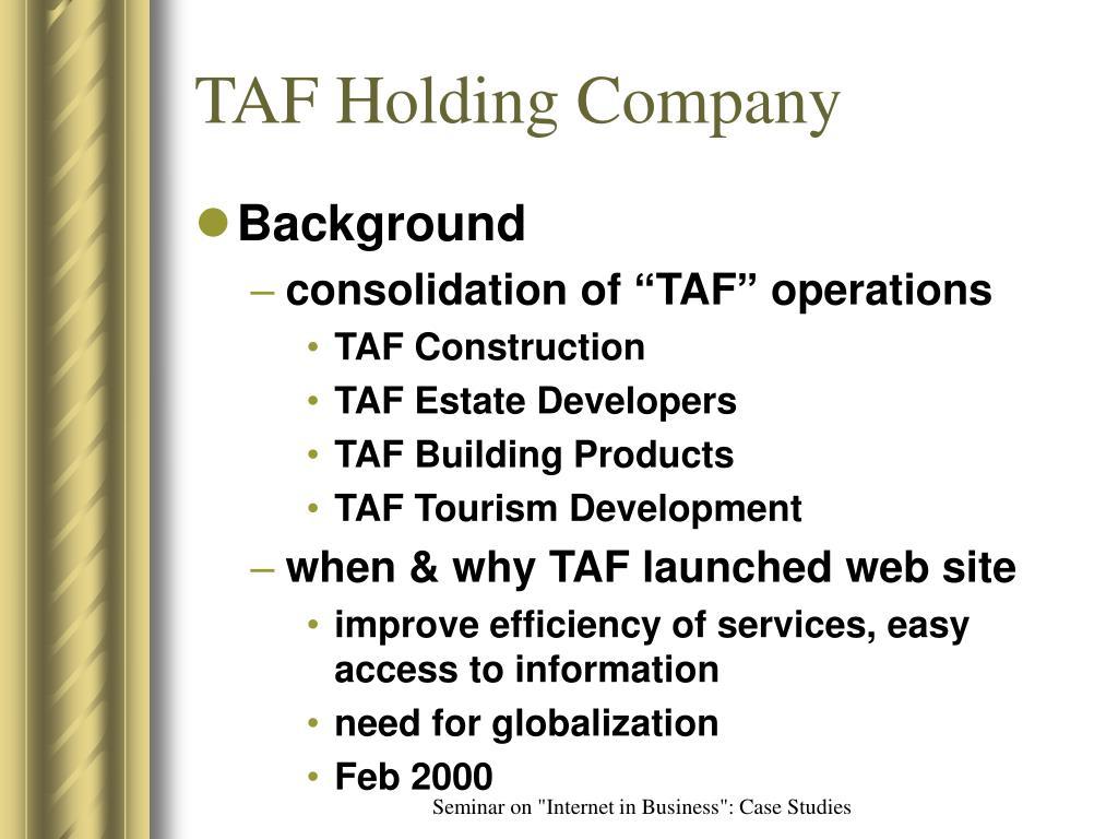 TAF Holding Company