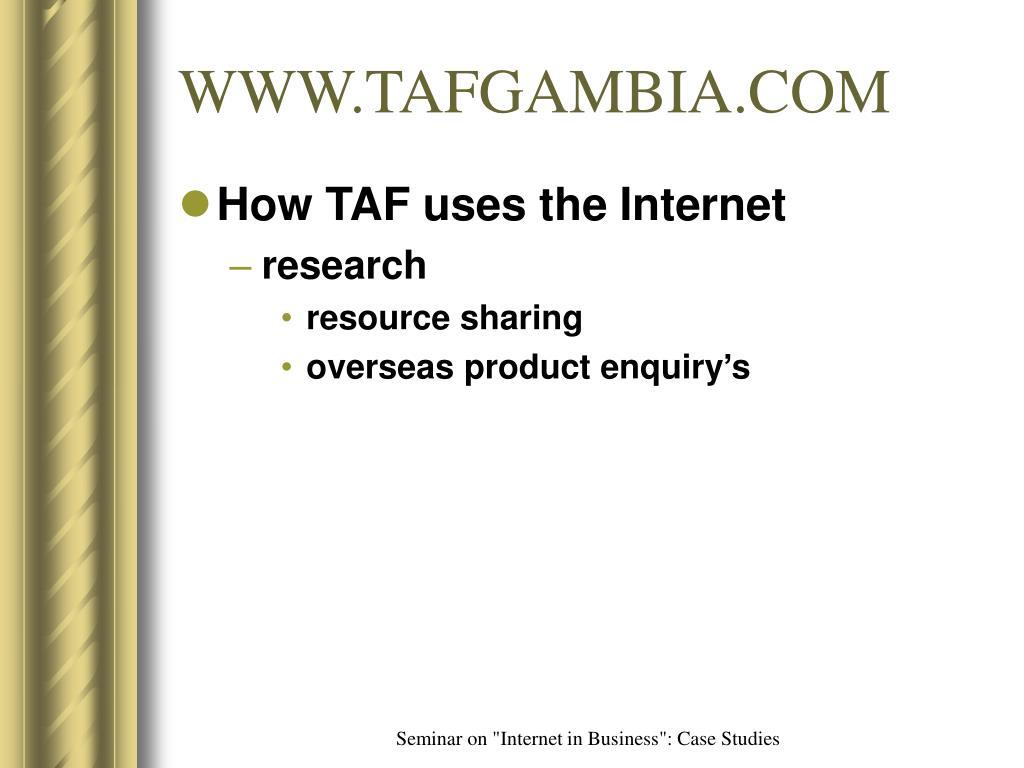 WWW.TAFGAMBIA.COM