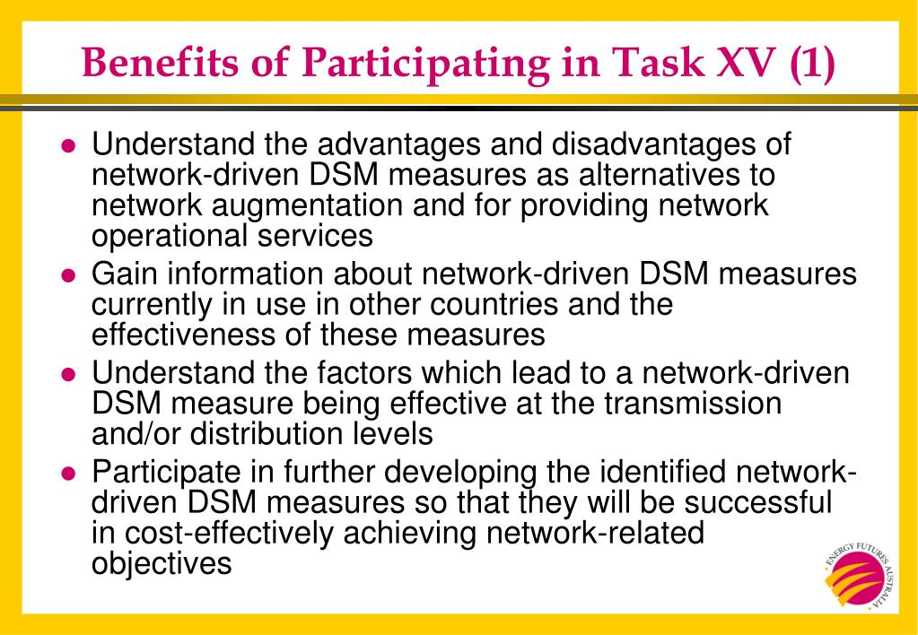 Benefits of Participating in Task XV (1)