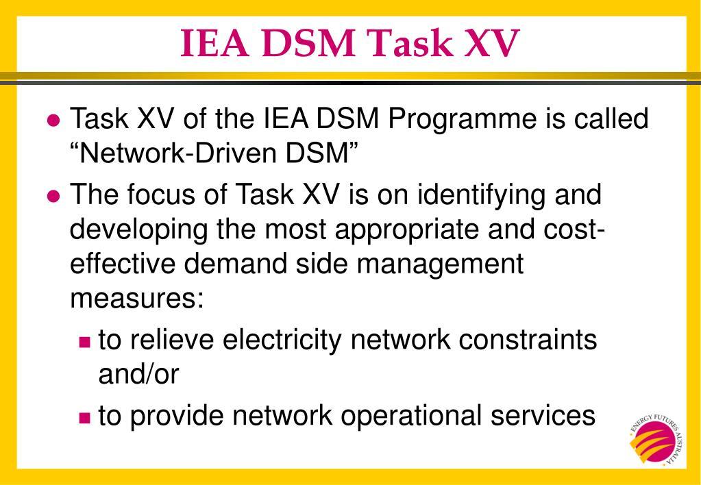 IEA DSM Task XV