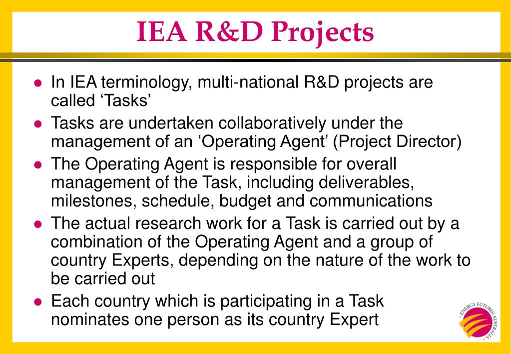 IEA R&D Projects