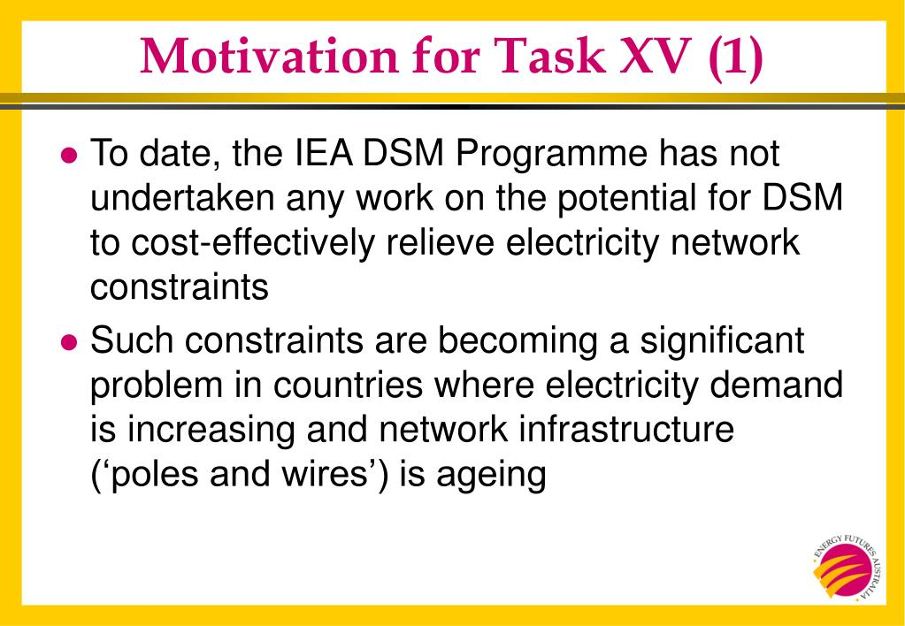 Motivation for Task XV (1)