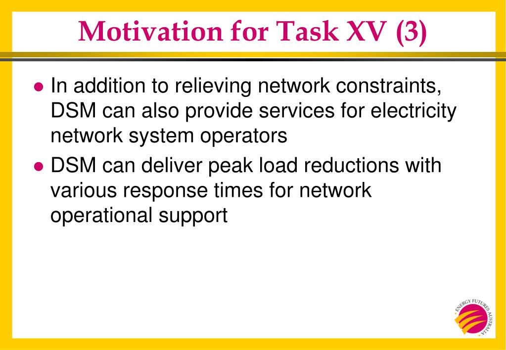 Motivation for Task XV (3)
