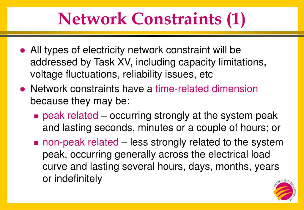 Network Constraints (1)