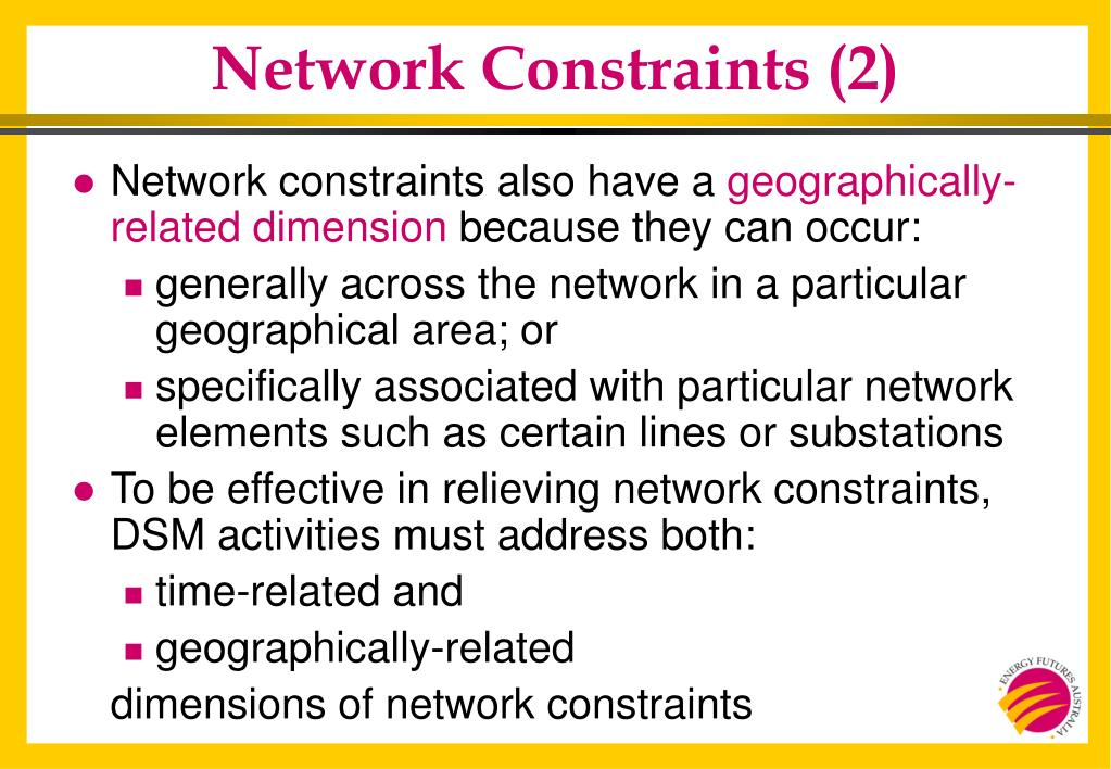 Network Constraints (2)