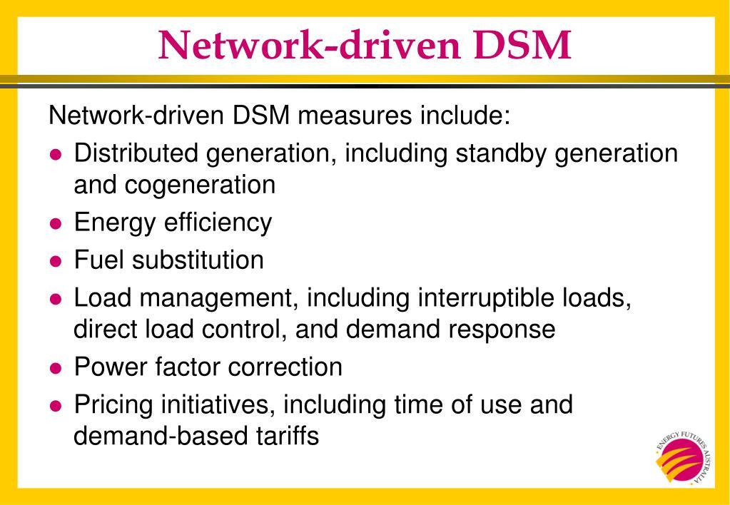 Network-driven DSM