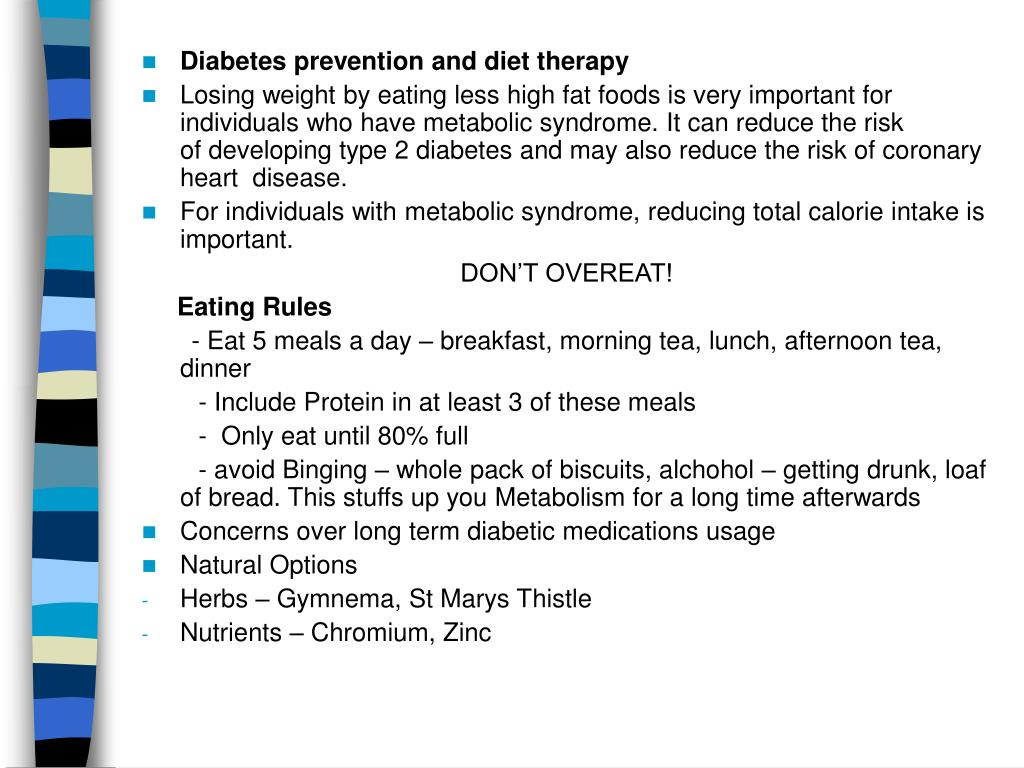 Diabetes prevention and diet therapy