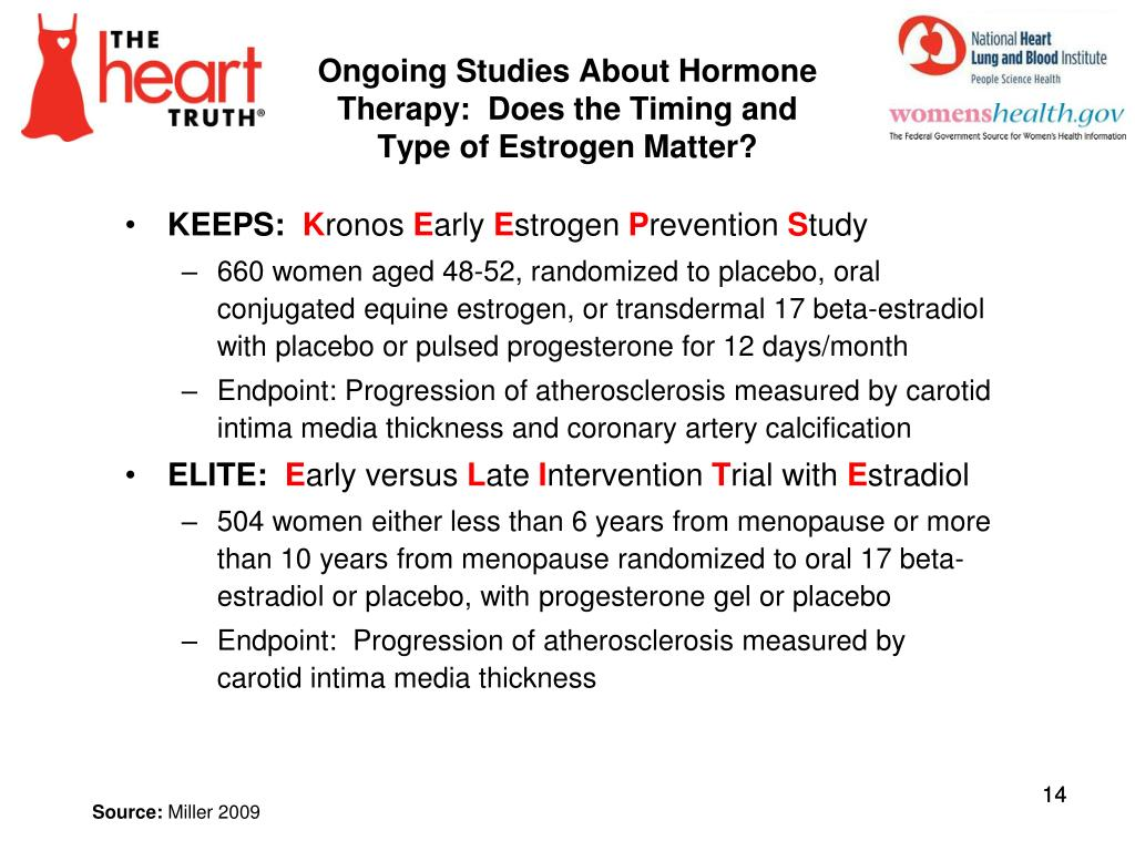 Ongoing Studies About Hormone Therapy:  Does the Timing and Type of Estrogen Matter?