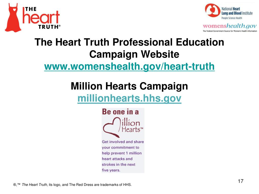 The Heart Truth Professional Education Campaign Website