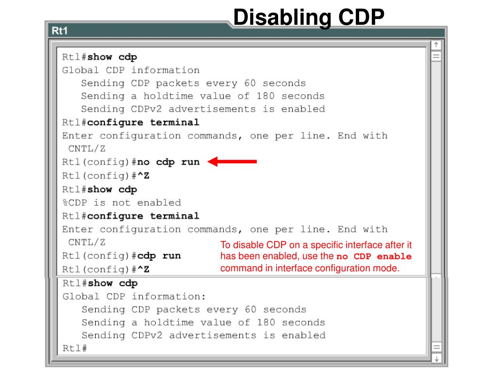 Disabling CDP