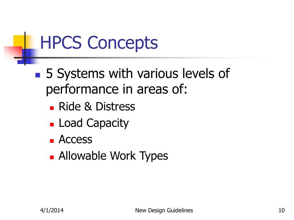 HPCS Concepts