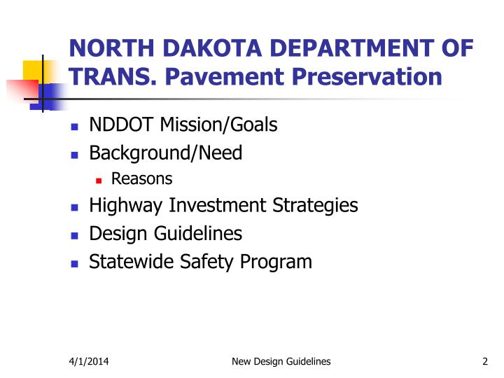 North dakota department of trans pavement preservation2