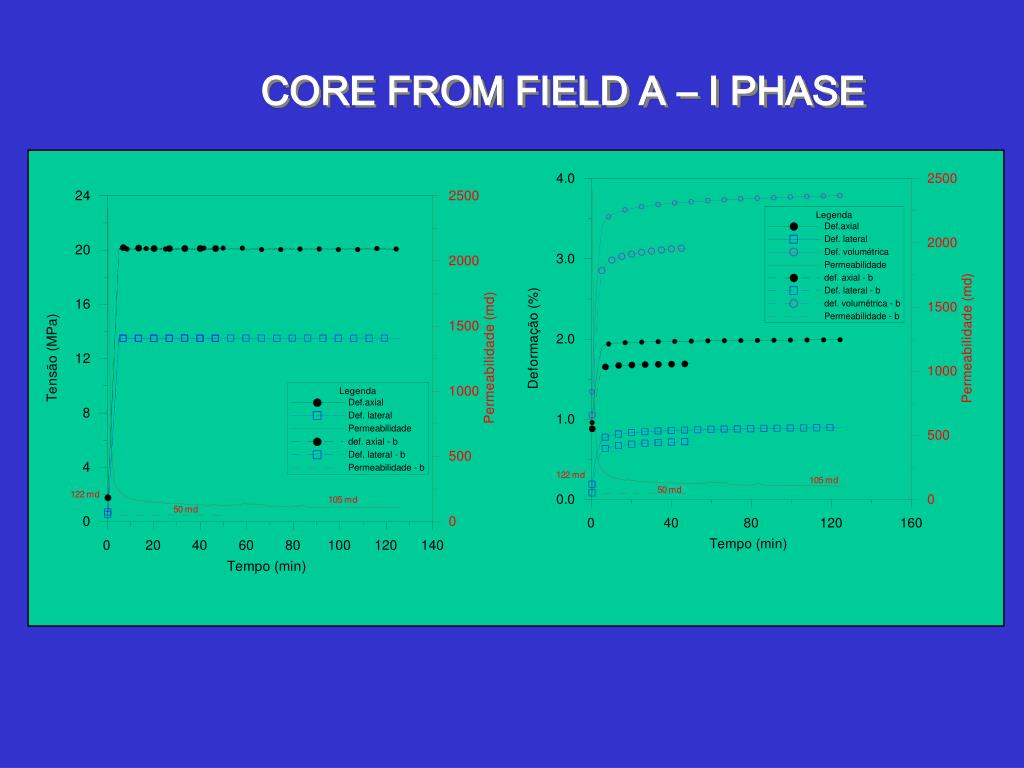 CORE FROM FIELD A – I PHASE