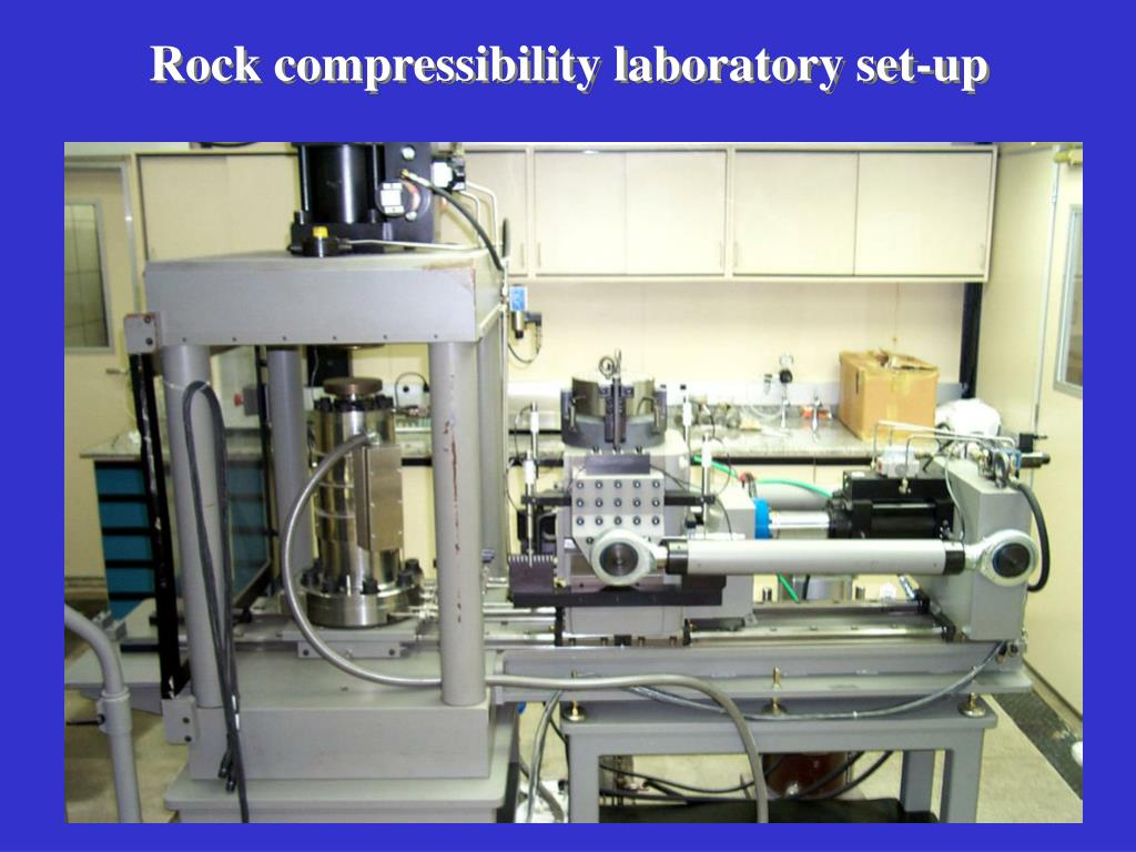 Rock compressibility laboratory set-up