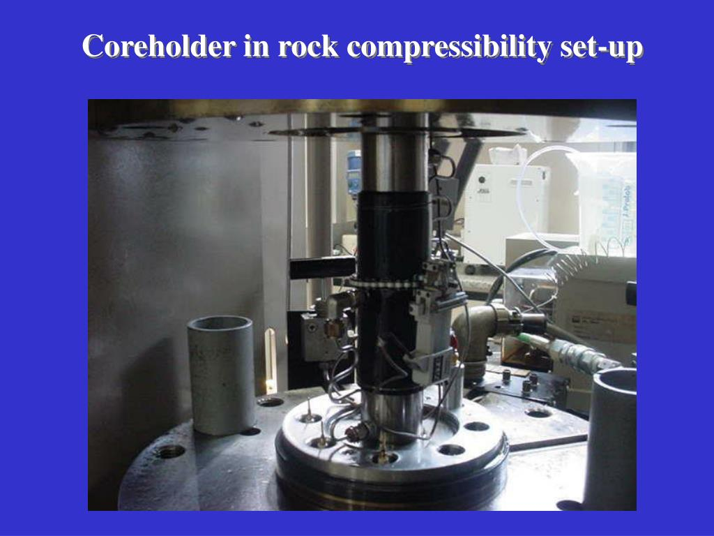 Coreholder in rock compressibility set-up