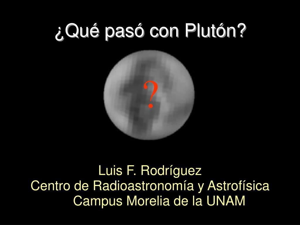 ¿Qué pasó con Plutón?
