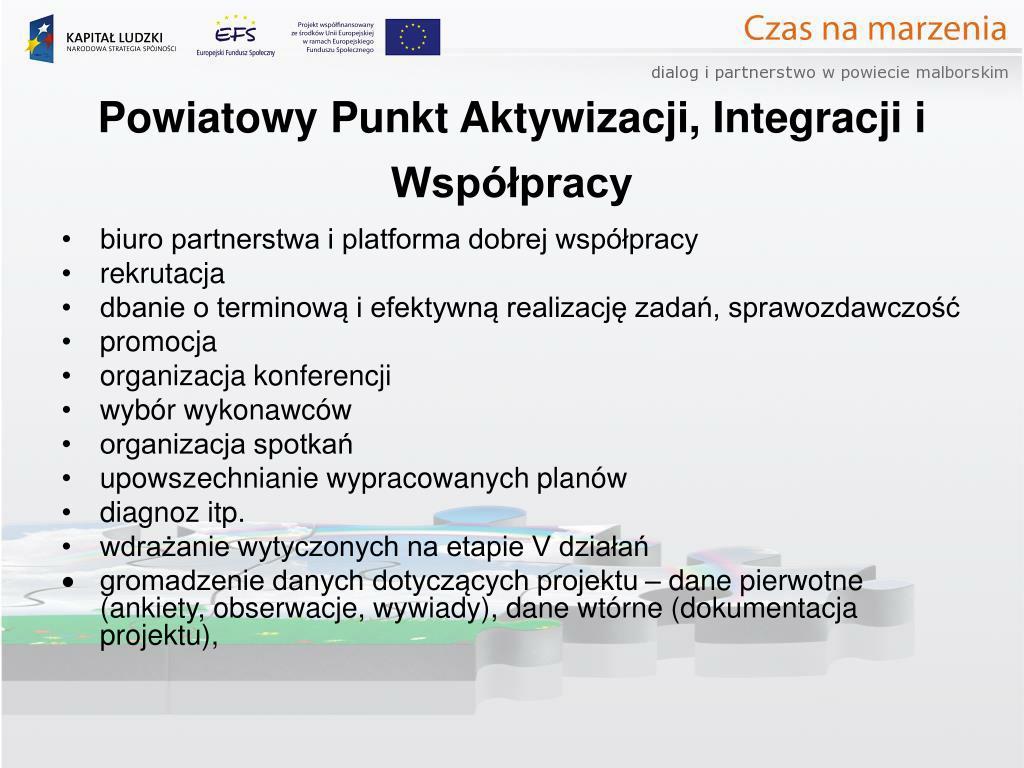 Powiatowy Punkt Aktywizacji, Integracji i Współpracy