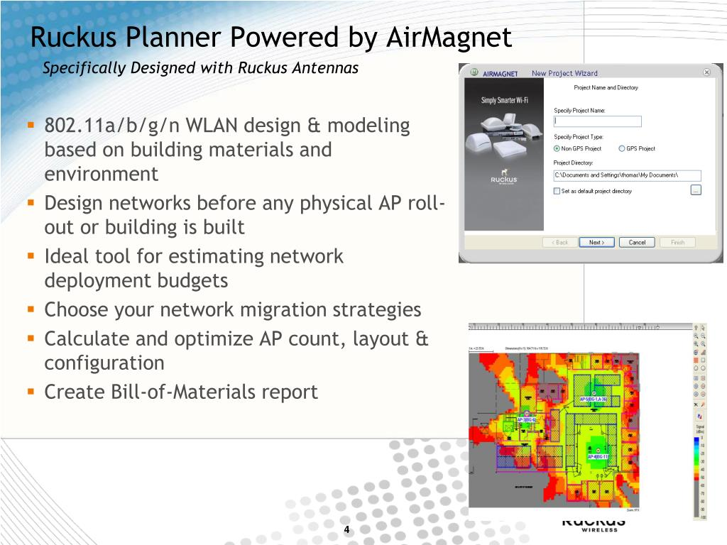 Ruckus Planner Powered by AirMagnet