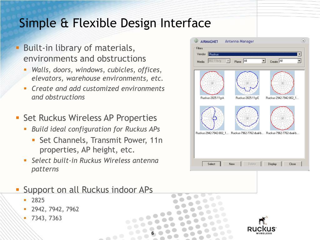 Simple & Flexible Design Interface