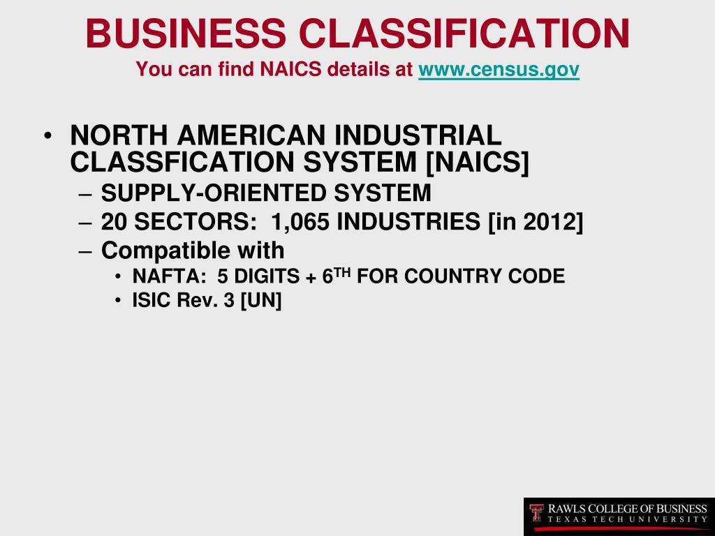 BUSINESS CLASSIFICATION