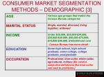 consumer market segmentation methods demographic 3