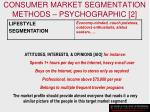 consumer market segmentation methods psychographic 2