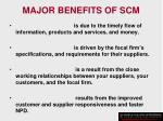 major benefits of scm