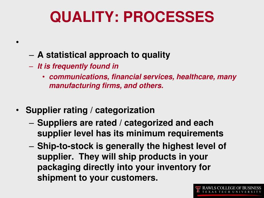 QUALITY: PROCESSES