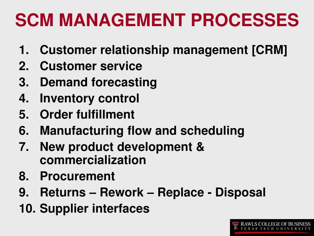 SCM MANAGEMENT PROCESSES