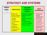 strategy and systems132