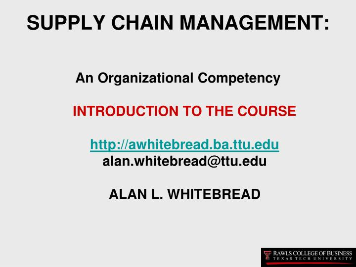 Supply chain management l.jpg