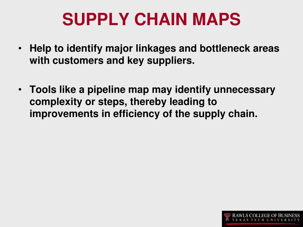SUPPLY CHAIN MAPS