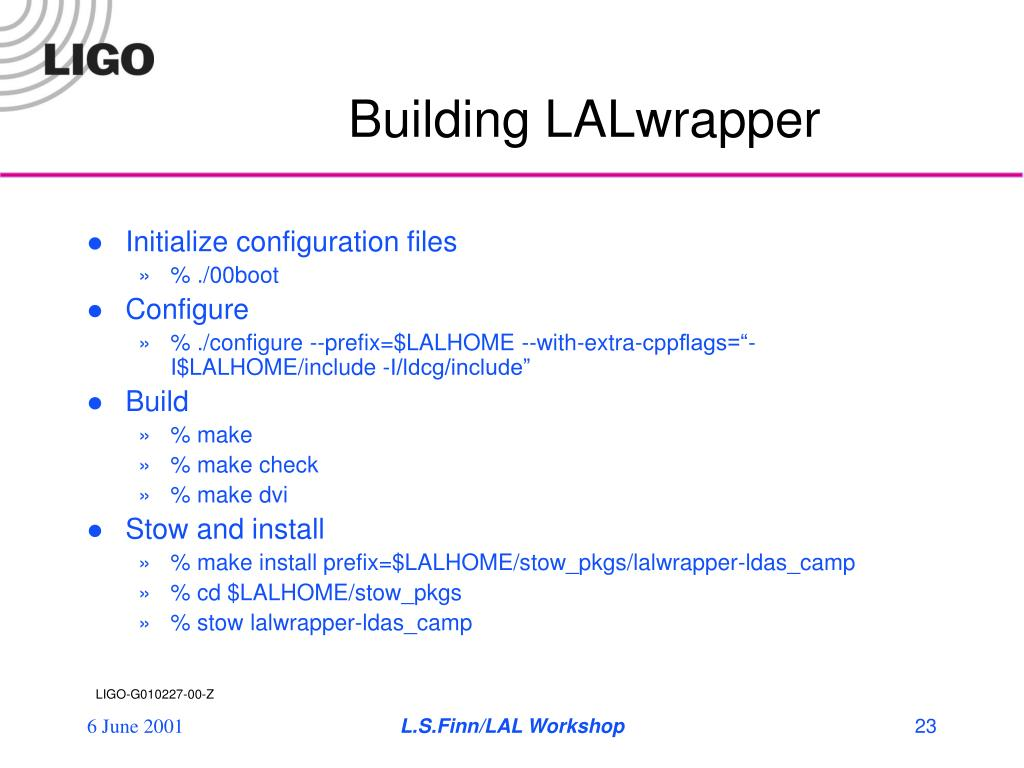 Building LALwrapper