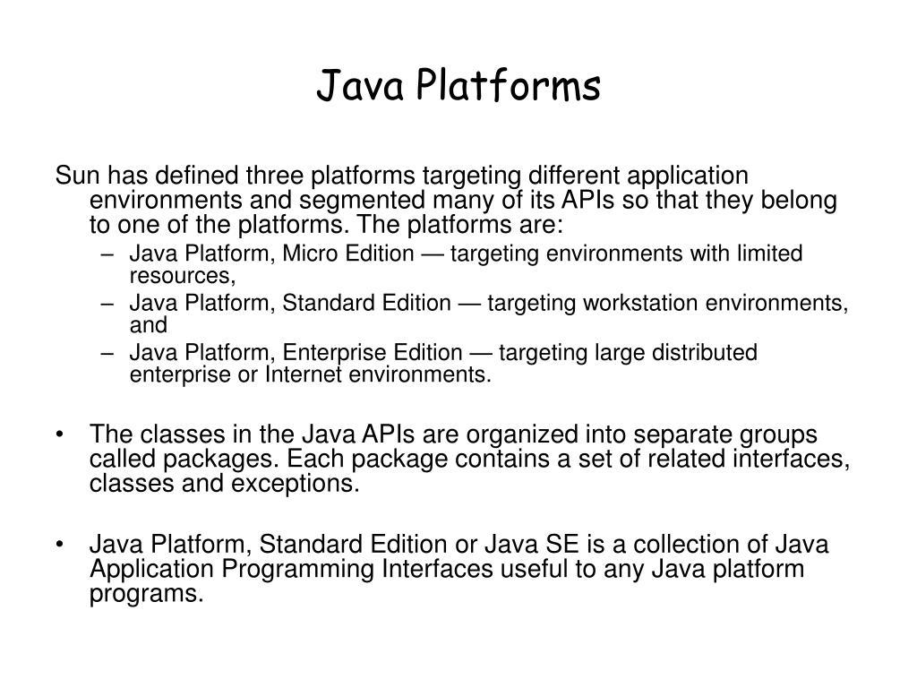 Java Platforms