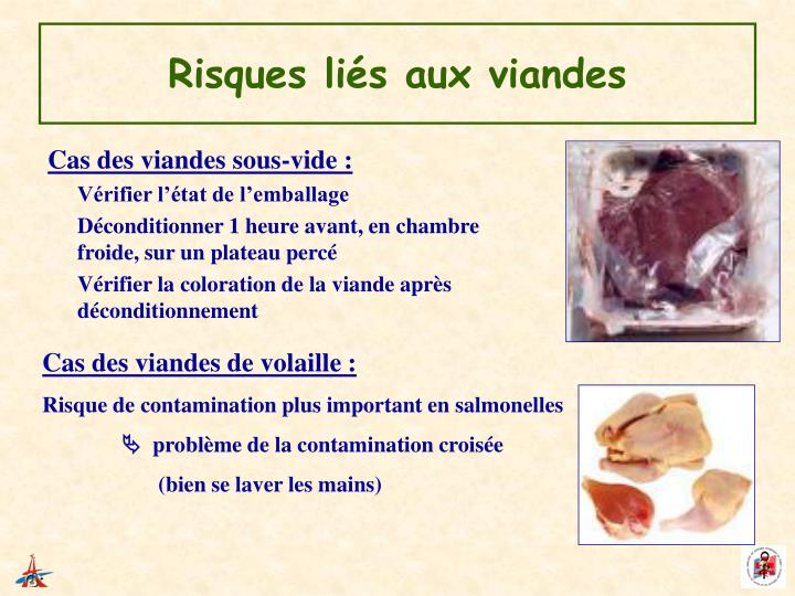 Risques liés aux viandes