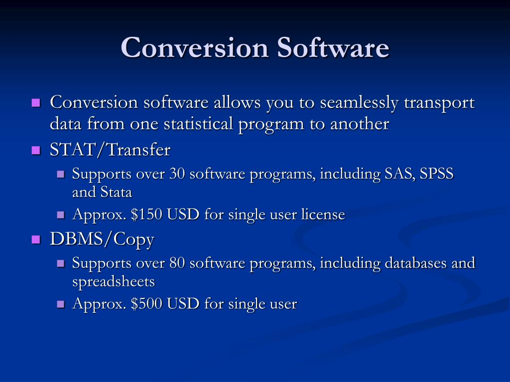 Conversion Software