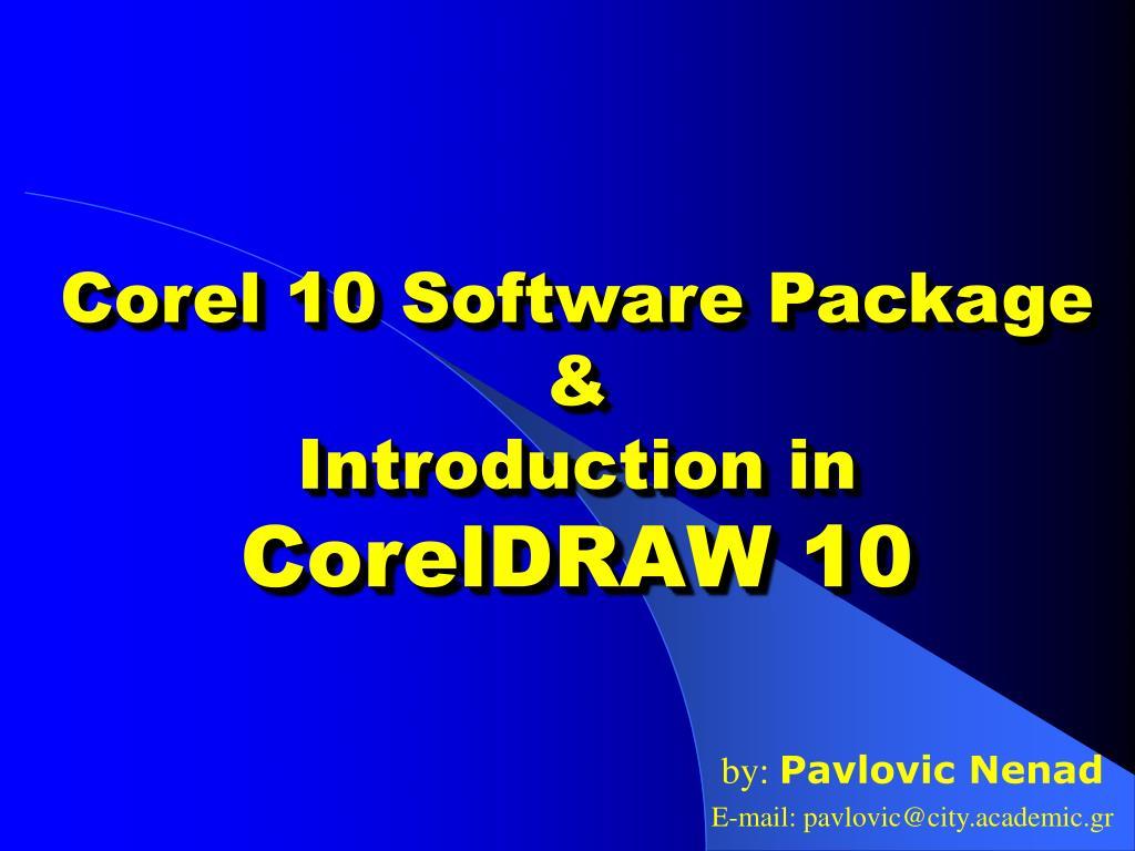 Corel 10 Software Package