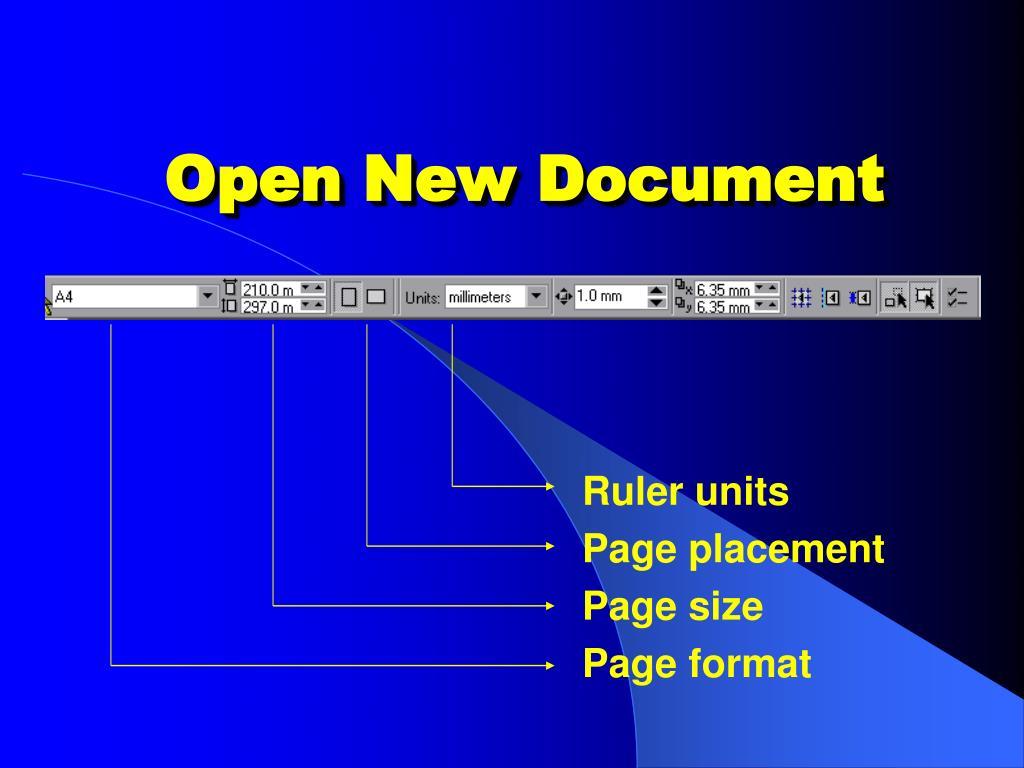 Open New Document