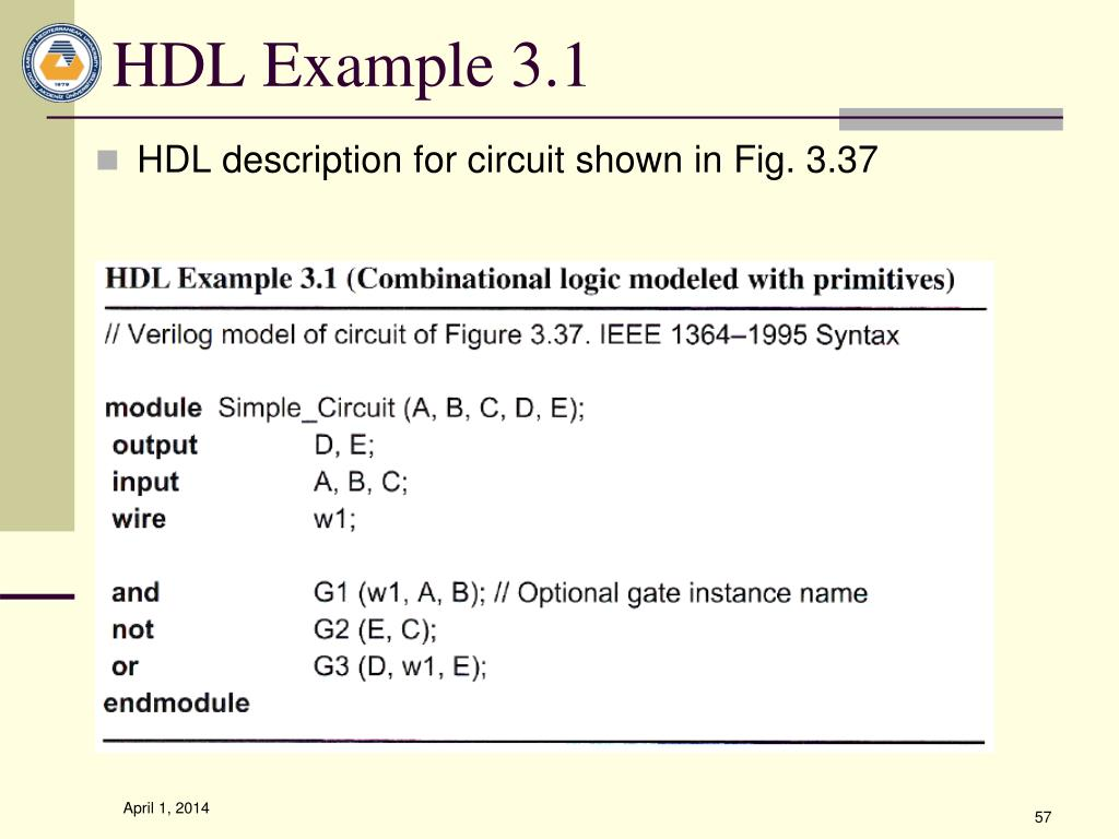 HDL Example 3.1