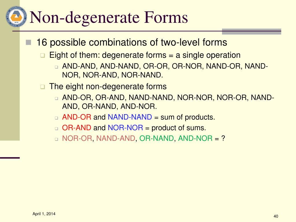 Non-degenerate Forms