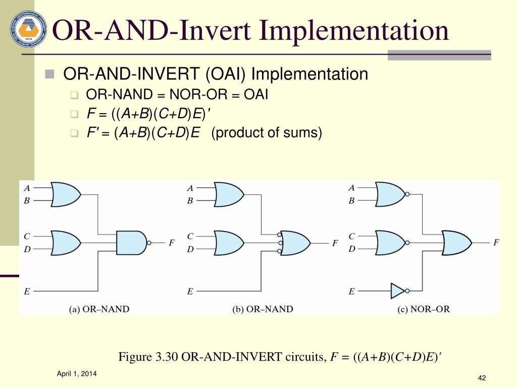 OR-AND-Invert Implementation