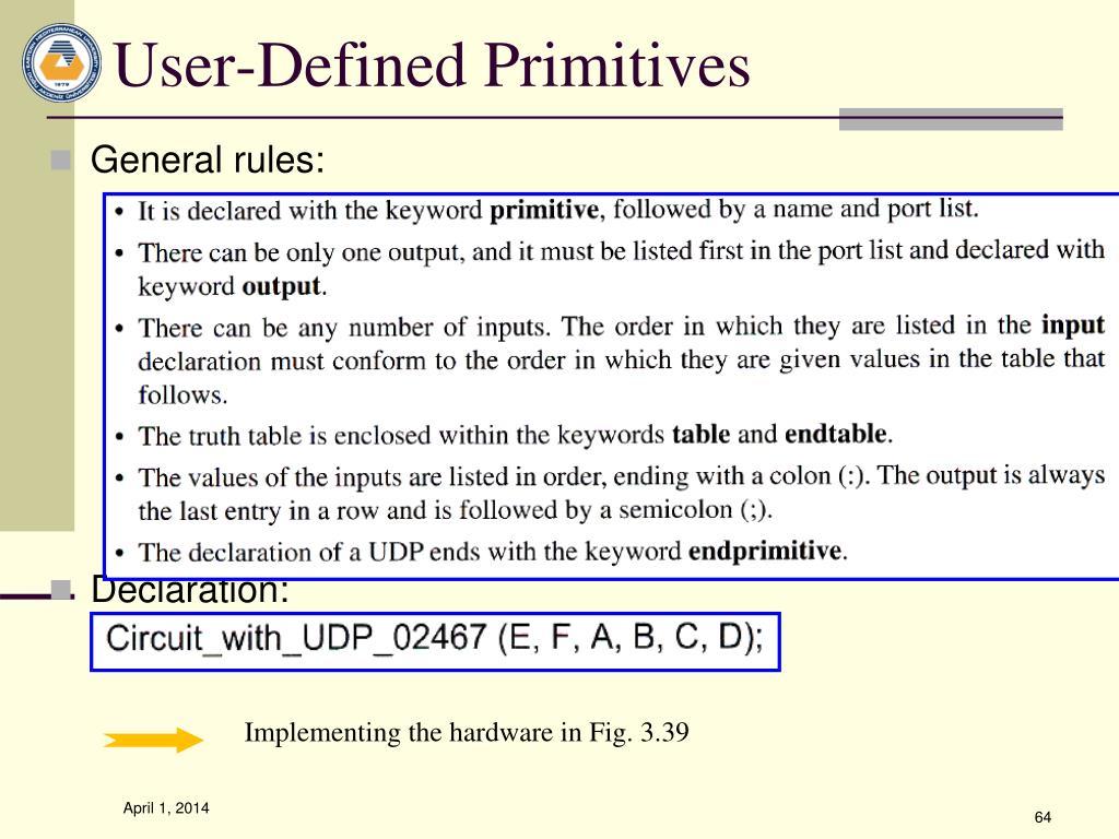 User-Defined Primitives